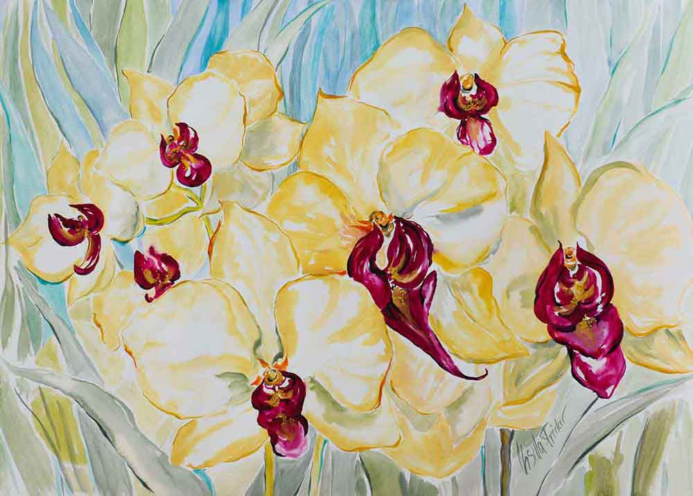 aquarell-orchideen
