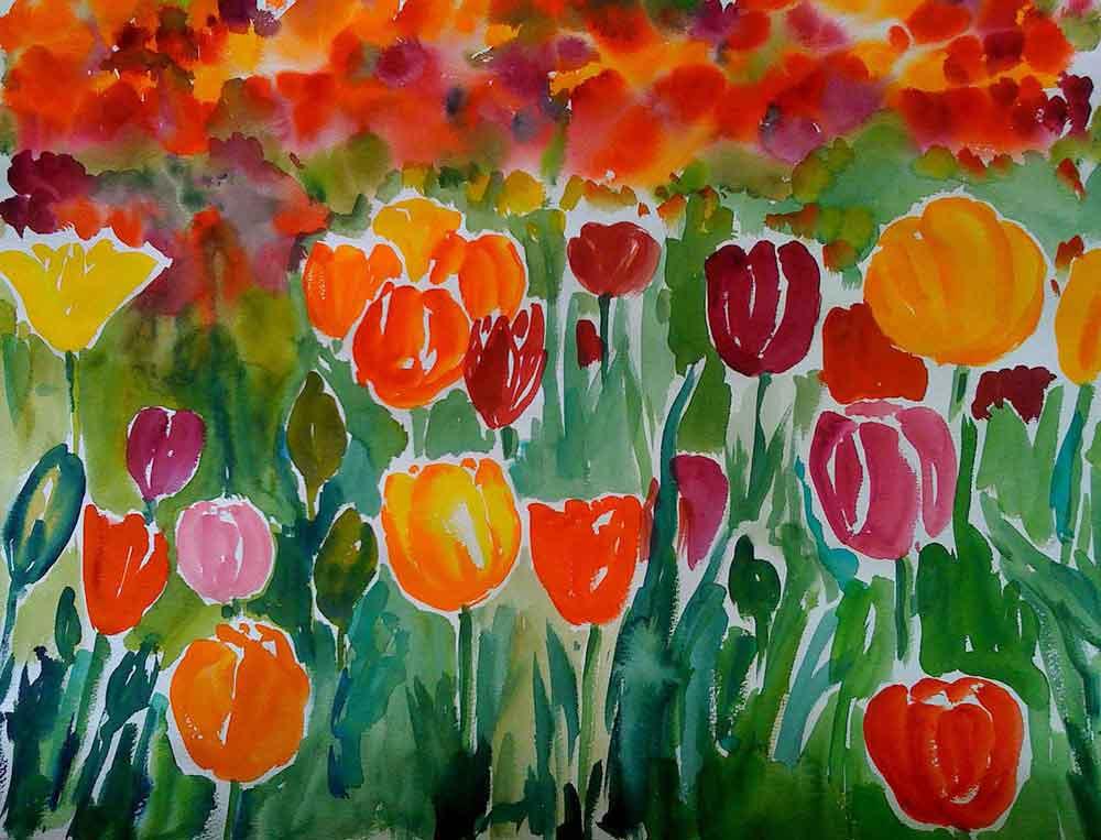 tulpenwiese-aquarell